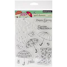 """Penny Black Clear Stamps 5""""X6.5"""" Sheet-April Showers: Amazon.de: Küche & Haushalt"""