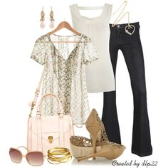 """""""Pale Pink and Mint Green Print"""" by dlp22 on Polyvore"""