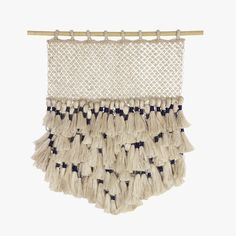 Our Jute Macrame Indigo Tassel Wall Hanging from The Dharma Door is another example of how we're bringing the art of macrame back to the here and now.