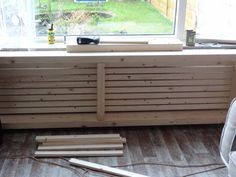wooden central heating cover, homemade and our own idea