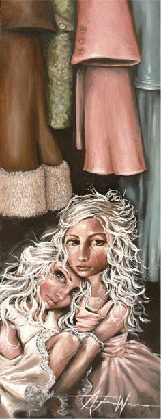 Angelina Wrona - Sanctuary (want - this will be my next! Motherless Daughters, Illusion Art, Lowbrow Art, Pop Surrealism, Canadian Artists, Simple Art, Box Art, Dark Art, Cute Art