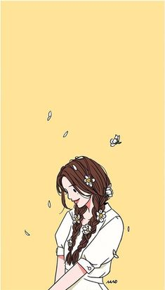 Korean Illustration, Illustration Art, Wallpaper Wall, Tumblr Art, Cartoon Art Styles, People Art, Anime Art Girl, Cute Wallpapers, Iphone Wallpapers