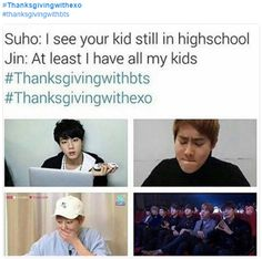WOW JIN YOU A SAVAGE but Aww poor Suho
