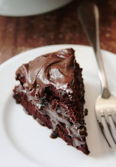 Devil's Food Cake Recipe - Instead of using a box mix for the Chocolate Covered Oreo Cooke Cake, I will use this recipe instead, with freshly ground whole wheat flour - LOVE the extra dimension it gives to chocolate cakes!