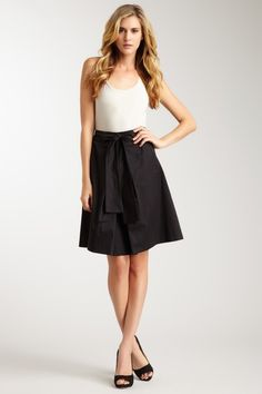BOSS Black Pleated Tie Front Skirt by RED Valentino, M Missoni, Hugo Boss & More on @HauteLook