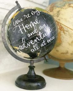 Excited to share this item from my shop: Custom Globe- Black Globe- Hand Lettered Globes- Travel Decor- Personalized Gifts Globe Guest Books, Gold Globe, Pretty Letters, Globe Decor, Globe Ornament, Map Globe, Hand Lettering Quotes, Teacher Appreciation Gifts, Anniversary Gifts
