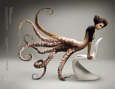 I love how the tentacles sweep around and curl, effortlessly flowing with the current.