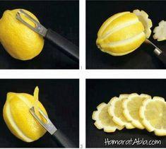 Özel yemeklerde farklı şekillerde, masa veya tabak süsleyebilirsiniz. Farklı olarak hazırladığınız limonataların içeceklerin içine atabilirsiniz.