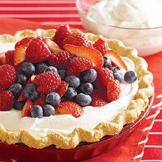 Triple Berry Cream Pie | MyRecipes.com