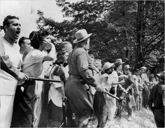 Peekskill; crowd protests the arrival of Paul Robeson, Pete Seeger and others.