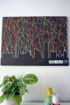 Skyline Hamburg mit Herz