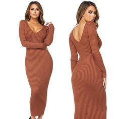 MarsiaMarsia · Get Thanksgiving ready with us. The stunning Kenya ribbed  sweater dress now in rust. 4c2ae3010