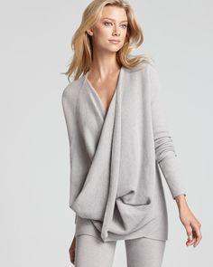 Donna Karan New York Sweater - Cross Front Drape | Bloomingdale's