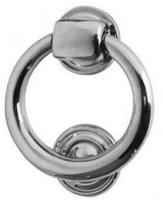 Polish Chrome Ring Door Knocker 105mm Diameter JV37NPC
