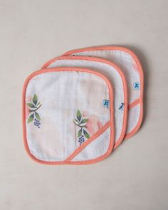 Washcloth Set - Watercolor Rose