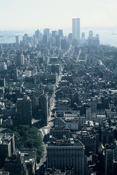 Vintage New York skyline