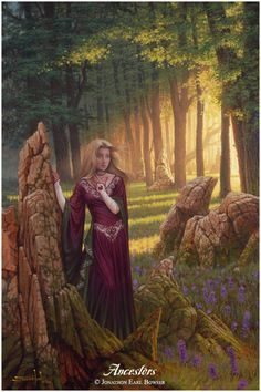 ...an oil painting of the Woodland Goddess, consoling the weary bones of the ancient earth as they fall beneath the tireless Advance of Life ...
