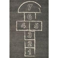 Hopscotch Rug - Now you can feel like a child again with the Hopscotch Rug. I never understood hopscotch, but I do understand rugs. And friends, this Hopscotch rug.