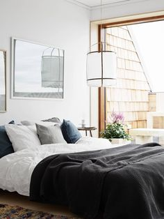 Style and Create — Beautiful bedroom in a residential building in Sundbyberg, Sweden | Styling by Lotta Agaton | Photo by Kristoffer Johnsson for Folkhem, published in Residence Magazine