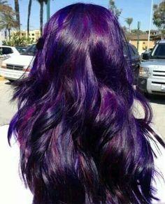 Dark purple and magenta hair
