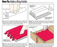 How to make cufflink, ring, earing, jewelry box holder from cotton batting and felt liner.