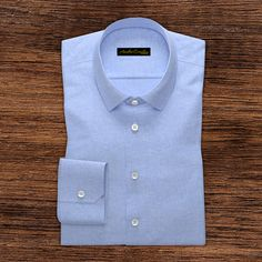 Cut-away cotton and linen shirt in light blue Constructed from a luxurious wrinkle resistant cotton and linen fabric and woven with Italian touch this light blue shirt allows you greater comfort, breath-ability, Formal Shirts For Men, Men Formal, Casual Shirts, Royal Blue Shirts, Light Blue Shirts, Pink Colour Shirt, Men Online, Men's Shirts, Check Shirt