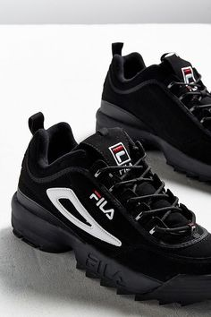 Shop FILA Disruptor II Trainers at Urban Outfitters today. Cute Shoes, Me Too Shoes, Basket Fila, Urban Outfitters Women, Fila Disruptors, Mein Style, Shoes With Jeans, Trainer, Womens Shoes Wedges