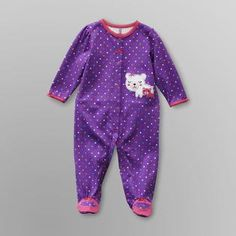 f698e4c84df2 Little Wonders- -Infant Girl's Footed Ruffle Sleeper - Bear Future  Daughter, Girl Clothing