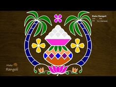 """Thank You for watching Music Credits:""""Royalty Free Music from Bensound"""" All the content including hand Image published on this channel is our own creative wo. Rangoli Designs Latest, Rangoli Designs Flower, Rangoli Border Designs, Rangoli Designs Diwali, Rangoli Designs With Dots, Rangoli Designs Images, Rangoli With Dots, Beautiful Rangoli Designs, Rangoli Borders"""