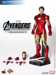 Iron Man figure from new Avengers movie by Hot Toys.
