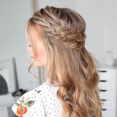 Spit never lose relevance. There are many options for weaving hair. Dutch braid looks striking and attractive. Spit never lose relevance. There are many options for weaving hair. Dutch braid looks striking and attractive. Braided Hairstyles Tutorials, Box Braids Hairstyles, Bride Hairstyles, School Hairstyles, Natural Hairstyles, Cute Hairstyles Long Hair, Southern Hairstyles, Hairstyle Ideas, Simple Braided Hairstyles