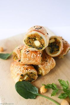 Spinach, chickpea and sweet potato sausage rolls | The Fare Sage