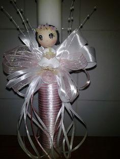 1000 images about velas comunion o bautizo on pinterest - Velas decoradas para bautizo ...