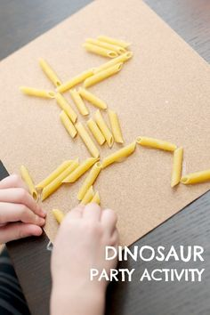 Easy Pasta Dinosaur Kids Party Craft