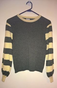 Vintage 1980s forest green and creme jumper by VintageTwists