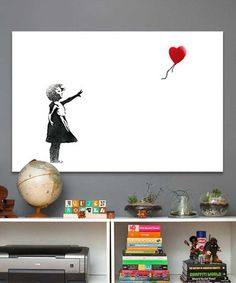 This Girl with a Balloon Gallery-Wrapped Canvas by Banksy is perfect! #zulilyfinds