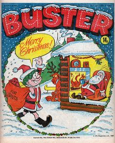 Buster Christmas 1981 - Reg Parlett Christmas Uk, Christmas Comics, Christmas Books, Magazines For Kids, Vintage Magazines, Vintage Books, Comic Book Covers, Comic Books Art, Comic Art