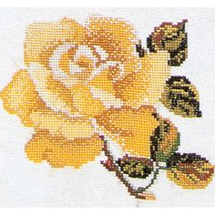 Thea Gouverneur counted-cross-stitch Kit Rose On Linen