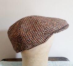 0d376467ecb Vintage HARRIS TWEED 100% Hand Woven Wool tweed driving cap