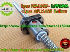 53.00$  Buy here - http://ali1j9.shopchina.info/go.php?t=666108341 - Best Price 1pcs Ball screw SFU1605 - L950mm+ 1pcs RM1605 Ballscrew Ballnut for CNC and BK/BF12 standard processing 53.00$ #magazineonline
