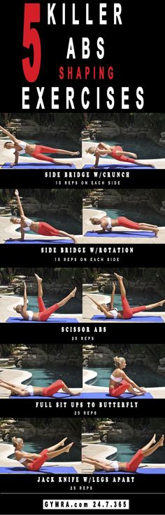 Get a flat, toned stomach and shred away belly fat by doing these 4 intense abs exercises. Re-pin now, check later.