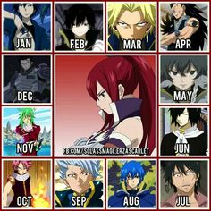 I got gajeel and my brother got NATSU so it explains why we are always clashing Fairy Tail Erza Scarlet, Fairy Tail Natsu And Lucy, Fairy Tail Manga, Fairy Tail Quiz, Fairy Tail Love, Anime Zodiac, Anime Horoscope, Birthday Scenario Game, Birthday Games