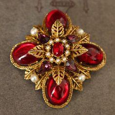Red Jewelry, High Jewelry, Metal Jewelry, Beaded Jewelry, Jewelery, Jewelry Accessories, Victorian Jewelry, Antique Jewelry, Vintage Jewelry
