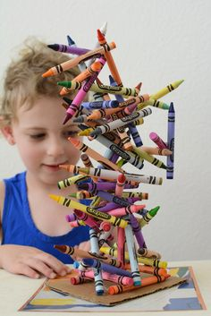 Crayon Art Sculpture- a fun kid project