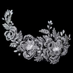 Affordable Elegance Bridal - Stunning Rhinestone Floral Rose Wedding Hair Comb, $204.99 (http://www.affordableelegancebridal.com/stunning-rhinestone-floral-rose-wedding-hair-comb/)