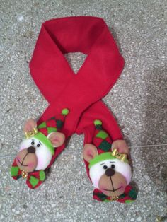 Bufanda navideña Holiday, Christmas, Halloween, Baby, Crafts, Bag, Ideas, Felted Scarf, Felt Ornaments