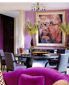 Decorating with Purple Schemes   Lilac and Lavender Wall Paint Color