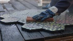 KARAK designer tiles. Raku firing process. Tile Design, Tiles, Workshop, Room Tiles, Atelier, Tile, Work Shop Garage, Backsplash