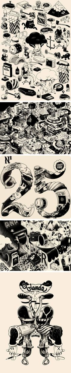 Illustrations by Mcbess / art / surreal / via: booooooom