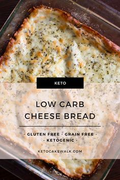 Garlicky, cheesy, and totally low carb! This keto cheese bread is just like the stuff you take out at the pizza place! #cheesebread #keto #lowcarb #glutenfree #grainfree #garlicbread
